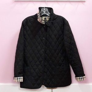 Burberry Black Quilted Jacket - Size M Regular